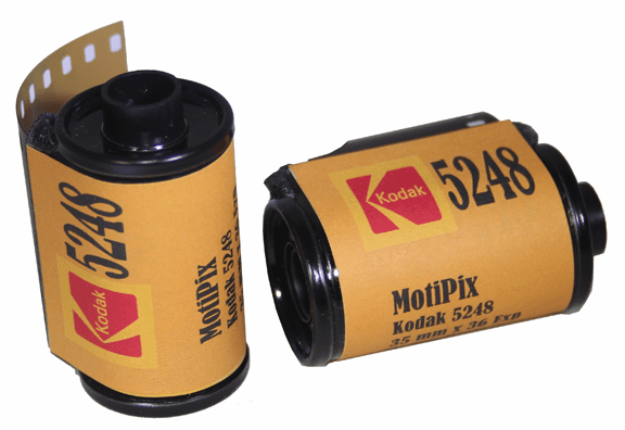 MotiPix Vintage Kodak 5248 35 mm x 36 Exp Motion Picture ECN-2 Process Film 100T