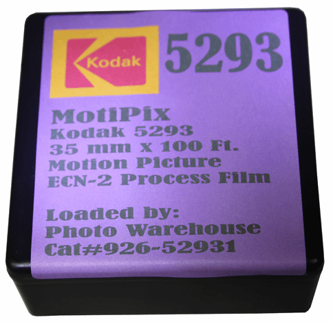 MotiPix Vintage Kodak 5293 35 mm x 100 Ft. Motion Picture ECN-2 Process Film 200T