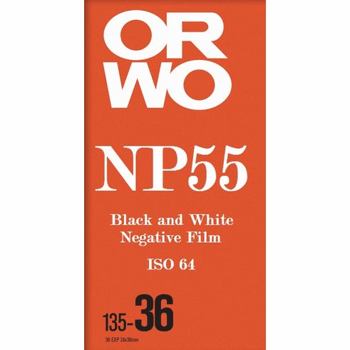 Orwo NP55 ISO 64 Black and White Negative Film 35mm x 36 Exp