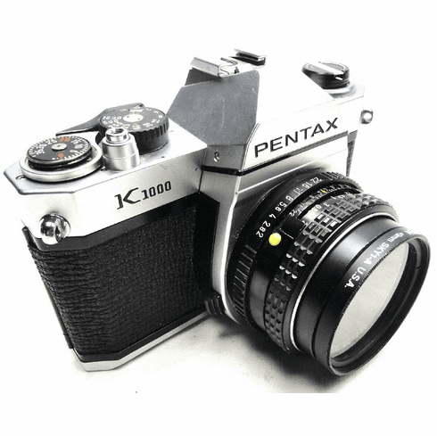 Pentax K1000 35mm SLR Student Camera with 50mm Lens - Used -