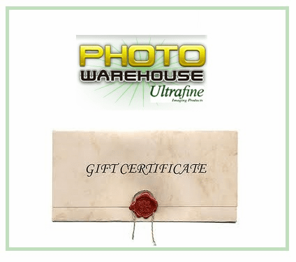 Photo Warehouse Gift Certificates