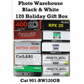 Photo Warehouse Holiday Black & White 120 format Gift Box - 10 Rolls