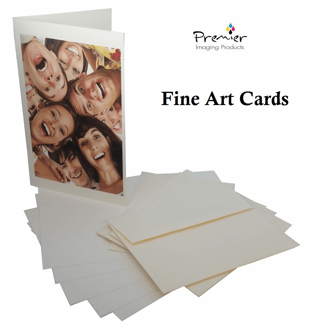 PremierArt™ Inkjet Greeting Cards 325gms Smooth Matte 2 Sided with A7 Envelopes - Set of 30