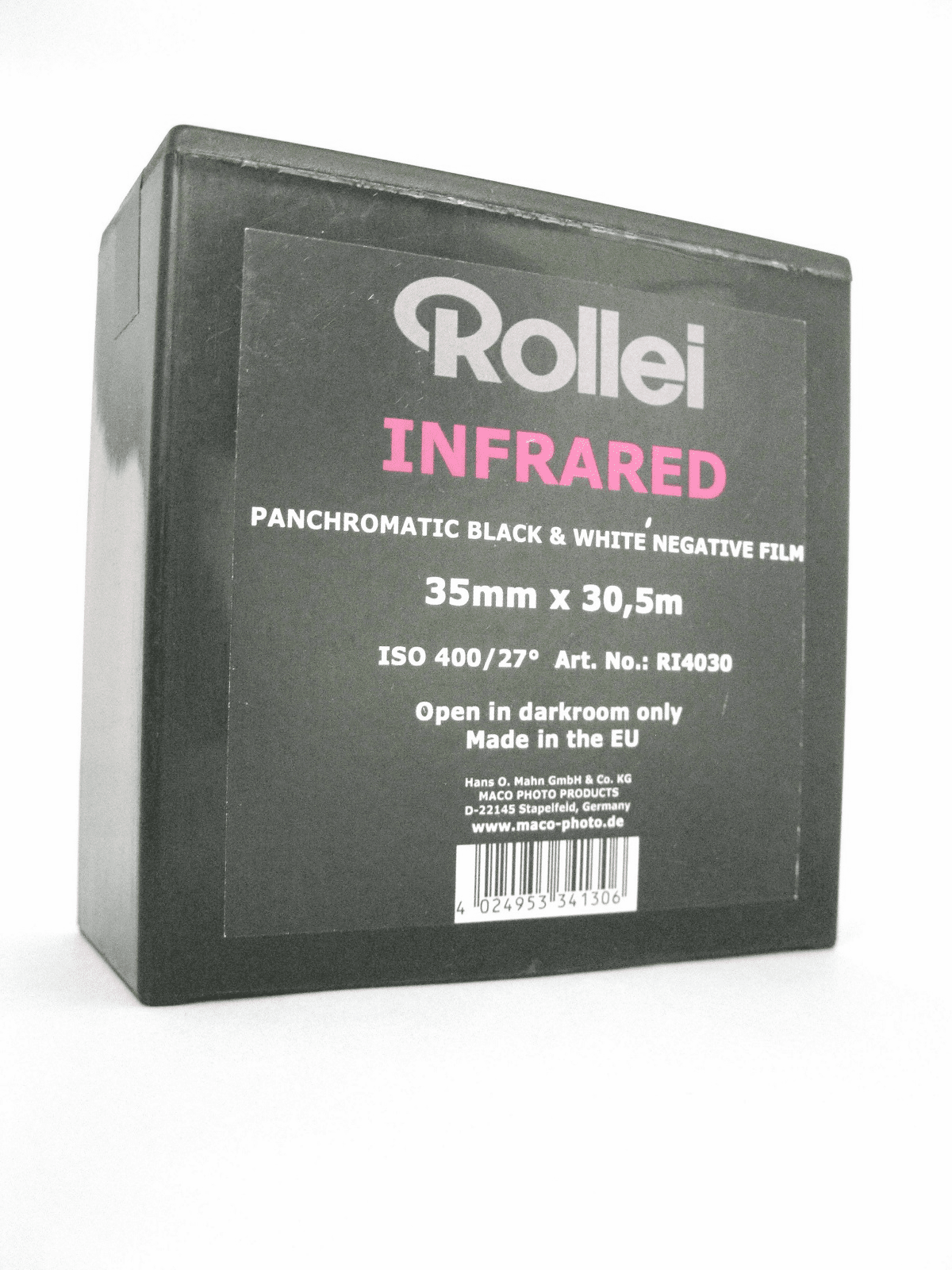 Rollei Infrared 400 Black and White Negative Film 35mm x 100'