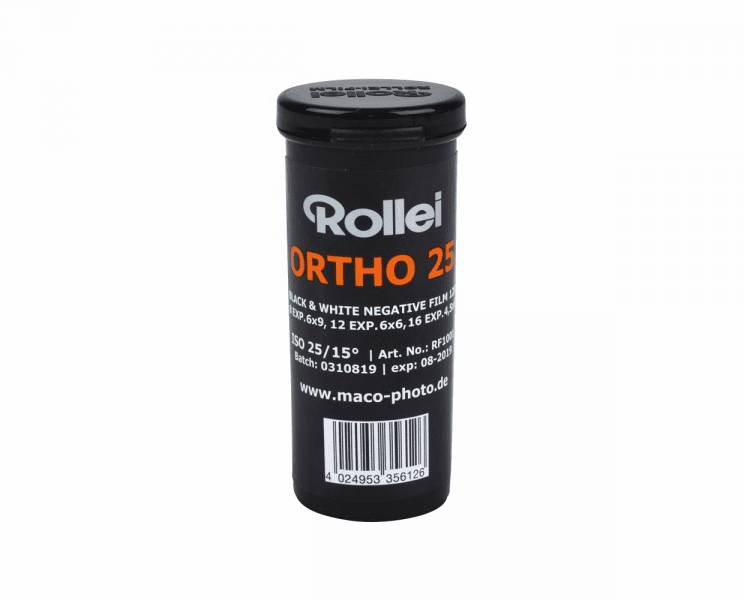 Rollei Ortho 25 ISO 120 Size Film
