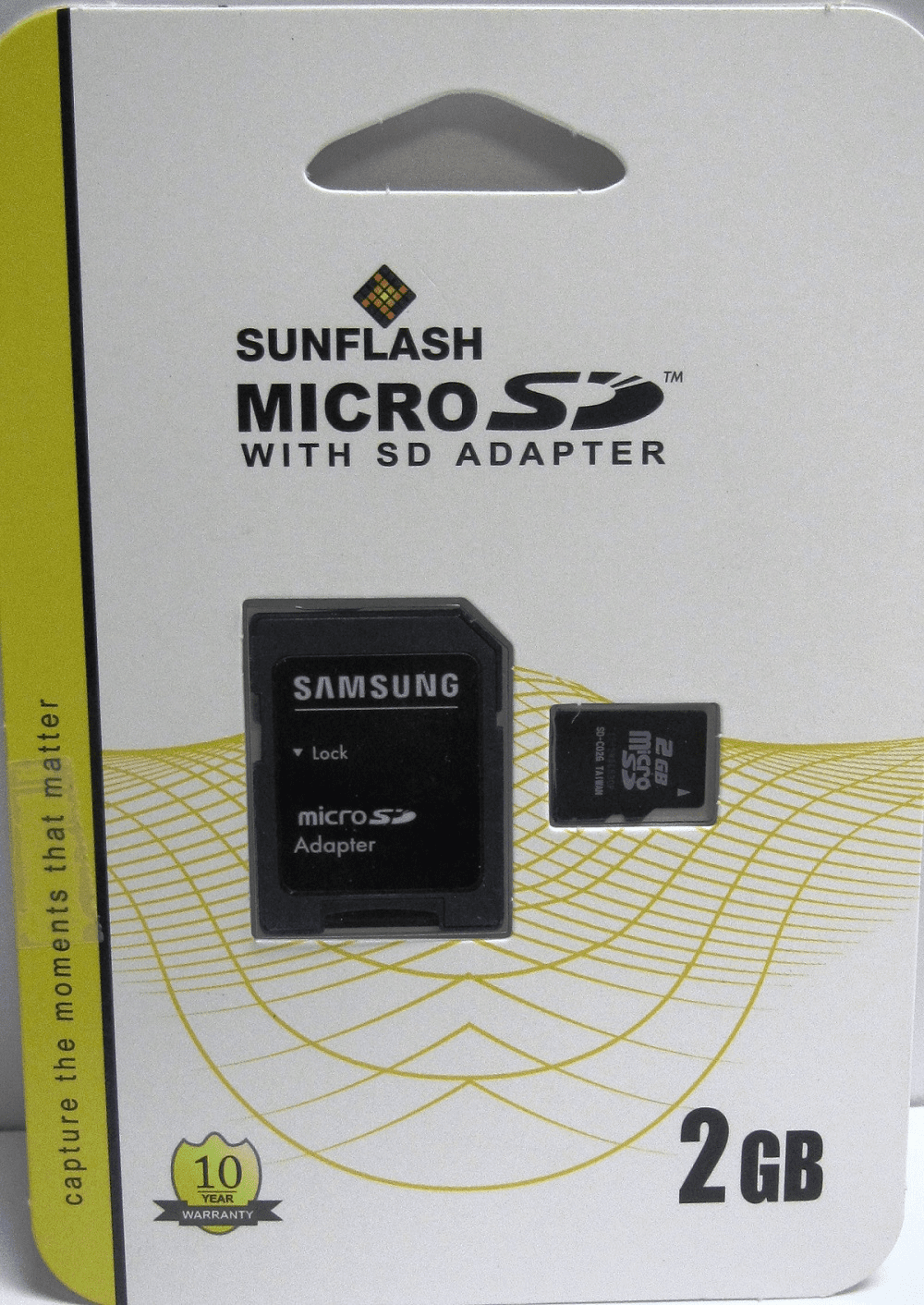 Sunflash Samsung  2GB Secure Digital micro SD Memory Card