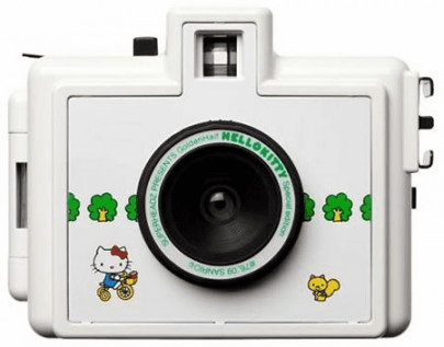 Superheadz HELLO KITTY Golden Half Camera with FREE FILM