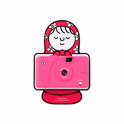 Superheadz Pink Dress Wide and Slim 35mm Wide Angle UWS Camera