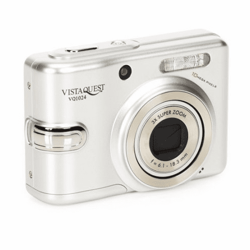 Superheadz Vistaquest VQ-1024 Silver 10MP Digital Camera with 3x Optical Zoom and Macro Mode
