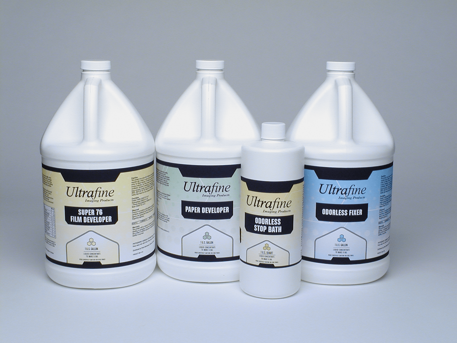 UltraFine B & W Photo Chemicals Liquid and Liquid Concentrates