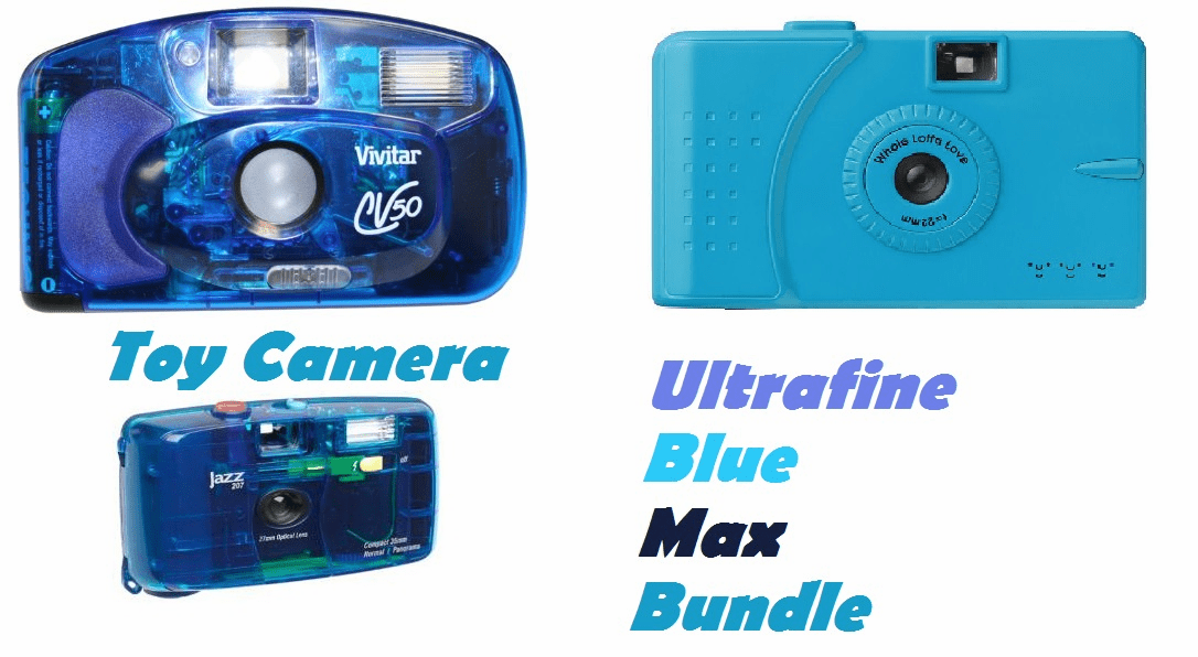 Ultrafine Blue Max Toy Camera Bundle