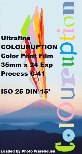 Ultrafine COLOURUPTION Experimental Color Print Film 35mm x 24 ISO 25