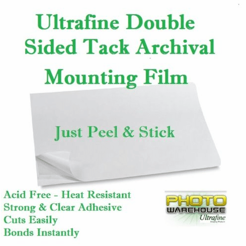 "Ultrafine Double Sided Tack Archival Mounting Film 8"" x 10"" / 10 Sheets"