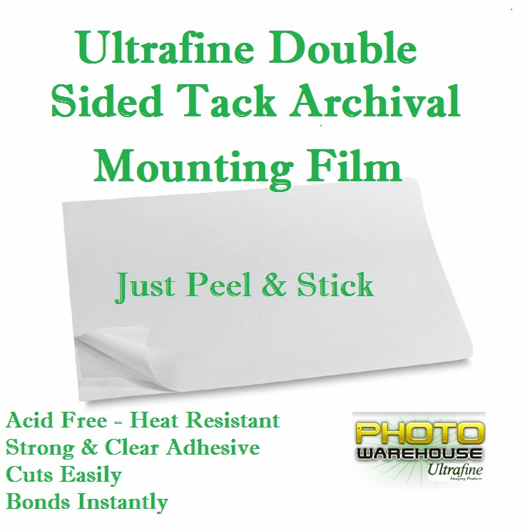 "Ultrafine Double Sided Tack Archival Mounting Film 9"" x 12"" / 10 Sheets"