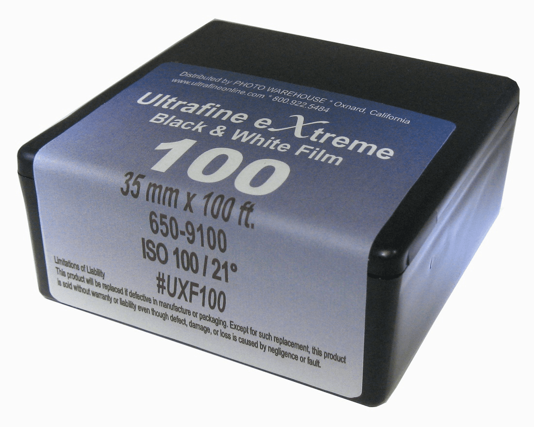 Ultrafine eXtreme Black & White Film ISO 100 35mm x 100'