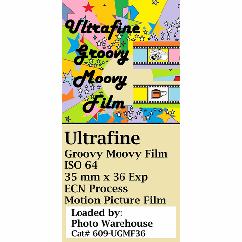 Ultrafine Groovy Moovy Color Print Film 35 mm x 36 exp ISO 64 ECN Process