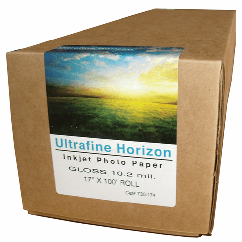 "Ultrafine Horizon Professional Grade Photo Quality Gloss 10.2 Paper 17"" x 100 Ft. Roll"