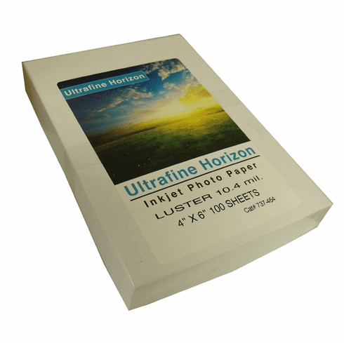 Ultrafine Horizon Professional Grade Photo Quality Lustre 10.2 Paper 4 x 6 / 100