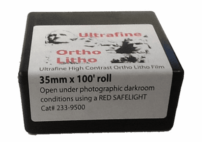 Ultrafine Ortho Litho Film 35mm x 100' roll