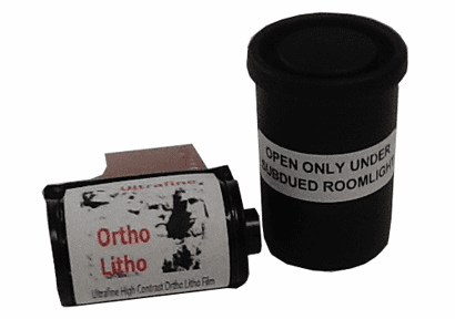 Ultrafine Ortho Litho Film 35mm x 20 exp