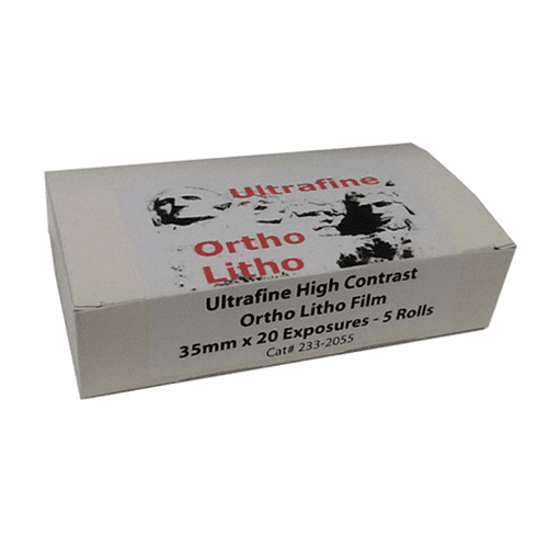 Ultrafine Ortho Litho Film 35mm x 20 exp - 5 Rolls