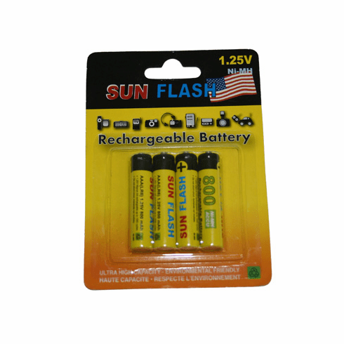 Ultrafine Pack of 4 - AAA  Rechargable Batteries