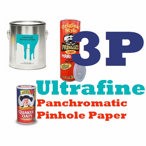 "Ultrafine Panchromatic Pinhole Paper for Digital & Pinhole Camera Exposure 8"" x 10"" / 100 sheets CUT FOR FILM  HOLDER"