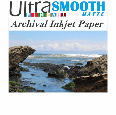 Ultrafine Smooth Matte FineArt Archival Inkjet Paper 8.5 x 11 / 50 Sheets