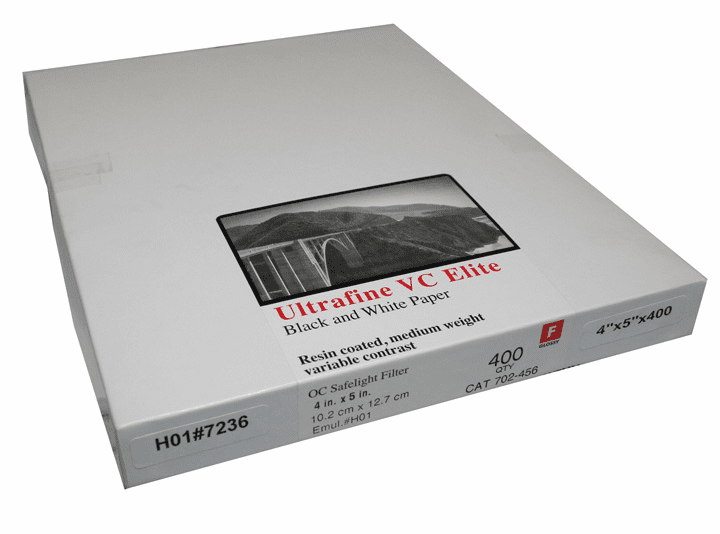 Ultrafine VC ELITE Glossy Variable Contrast RC Paper  4 x 5 / 400
