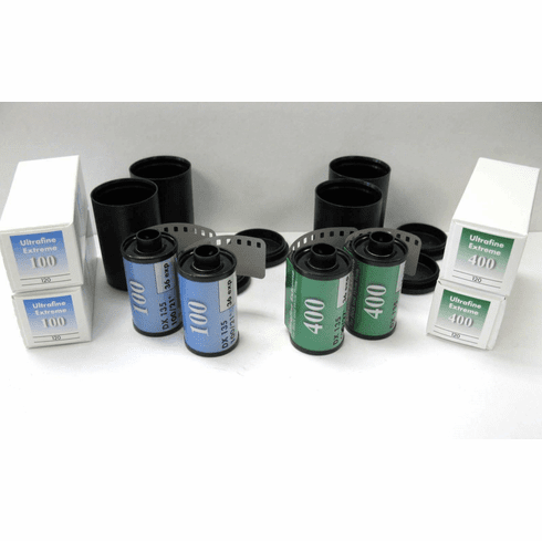 Ultrafine Xtreme 8 Roll 120/35mm B&W Ample Sample Pack ISO 100 & 400