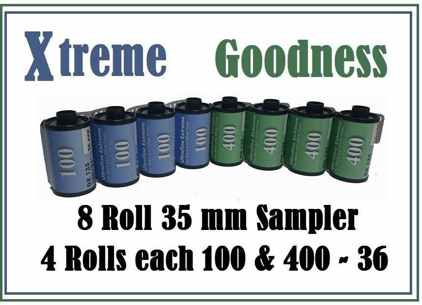 Ultrafine Xtreme Goodness 35 mm ISO 100 & 400 Sampler 8 Roll Pack