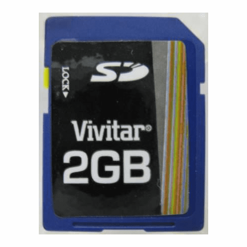 Vivitar 2GB Secure Digital SD Memory Card
