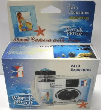 Water Proof ISO 400 27 Exposure Single Use Camera Outdated Special
