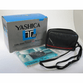 YASHICA T AF Carl Zeiss Tessar 3.5/35 T* 35mm Camera retail box, case, and strap