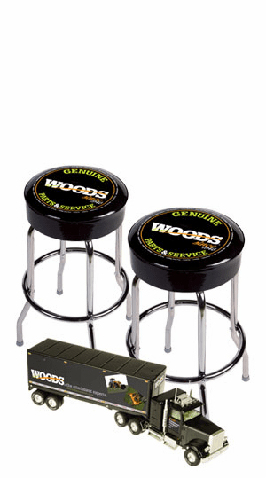 2 Woods Counter Stools and Receive a FREE Woods 1/23 Scale Tractor Trailer
