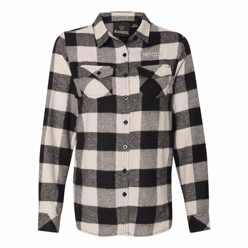 Burnside Ladies' Yarn-Dyed Long Sleeve Flannel Shirt