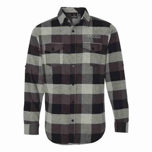 Burnside Yarn-Dyed Long Sleeve Flannel Shirt