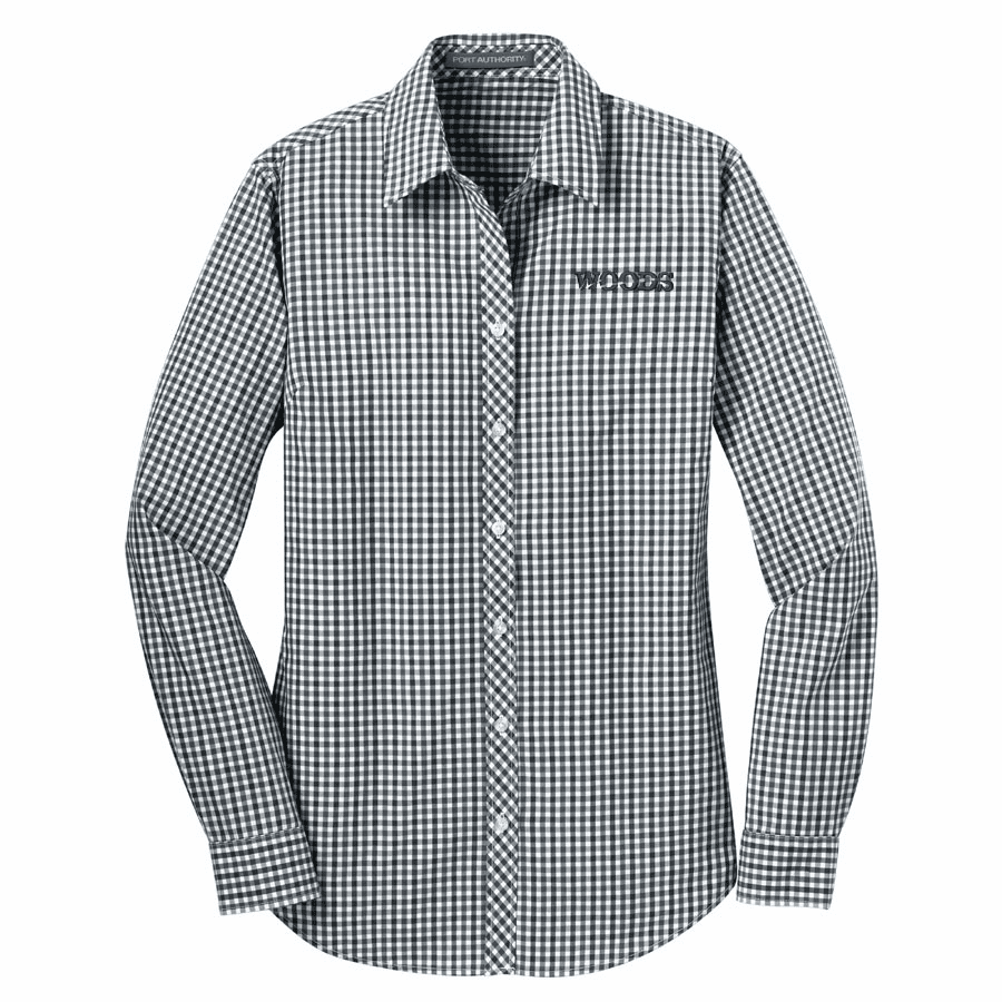 Port Authority Ladies' Long Sleeve Gingham Easy Care Shirt