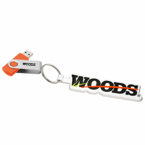 Rotate Flash Drive with Woods BrushBull  Videos