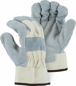 "1800  ""PIT BULL""  DOUBLE TANNED PREMIUM GRADE LEATHER PALM WORK GLOVES"