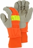 1960  WINTER POLY FLEECE LINED HIGH VISIBILITY PIGSKIN WORK GLOVES<BR>CLOSEOUT PRICED!