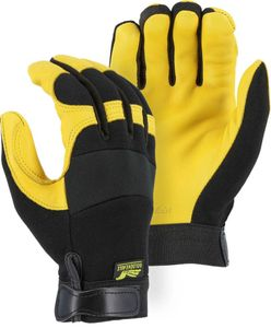 2150 GOLDEN EAGLE PREMIUM SEAMLESS DEERSKIN MECHANICS GLOVES<BR>CLOSEOUT PRICE $12.99