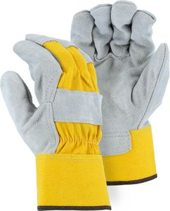 2501CY BEST  GRADE  COWHIDE LEATHER PALM WORK GLOVES<BR>BULK