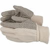 2610 COTTON CANVAS GLOVES w/PVC DOTS FOR GRIP - BULK