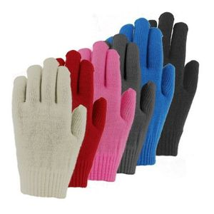 36114 LADIES ACRYLIC KNIT MAGIC STRETCH GLOVES