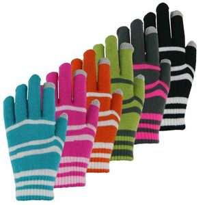 36129 LADIES TOUCHSCREEN ACRYLIC KNIT MAGIC STRETCH GLOVES