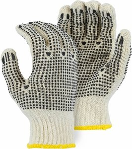 3825 STRING KNIT GLOVES W/PVC DOTS FOR GRIP