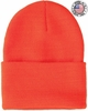 40144-BLZ CLASSIC SUPERSTRETCH BLAZE ORANGE KNIT CUFF HAT