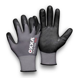 51-295 OXXA<sup>&#174</sup> X-PRO-FLEX PLUS ULTIMATE GRIP & COMFORT WORK GLOVE w/NITRILE DOTS FOR ADDED GRIP