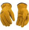 51PL PILE LINED FULL SUEDE REINFORCED DOUBLE PALM DRIVER WORK GLOVES